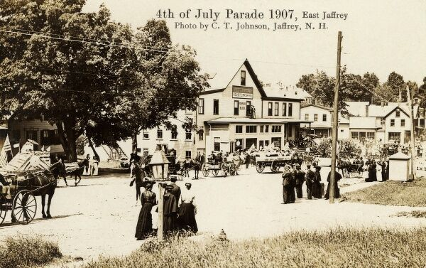 4th July Parade - Independence Day at Jaffrey, New Hampshire Date: 1907