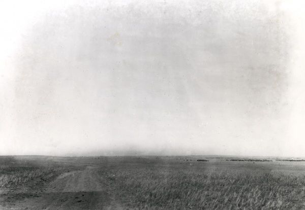 General view of the Australian 5th Light Horse Regiment's position in front of Gaza during the First World War. Date: 1917