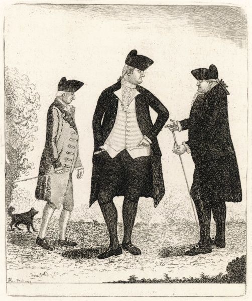 THOMAS HAMILTON, 7TH EARL OF HADDINGTON (on left) To the right of him are Sir William Forbes and Sir James Hunter Blair