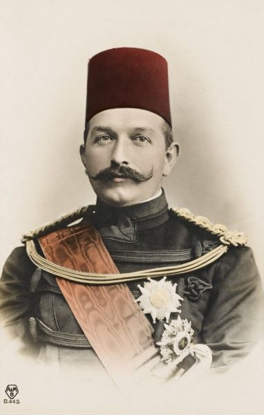 Abbas Hilmi Pasha (July 1874 - December 1944). Last Khedive of Egypt and Sudan (1892 - 1914). The Great Great Grandson of Muhammad Ali. Suceeded his Father (Tawfiq Pasha). As a boy, visited the United Kingdon and had an English Tutor in Cairo