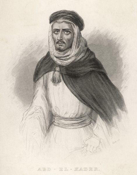 ABD EL KADER Bey of Mascara, Arab leader against the French