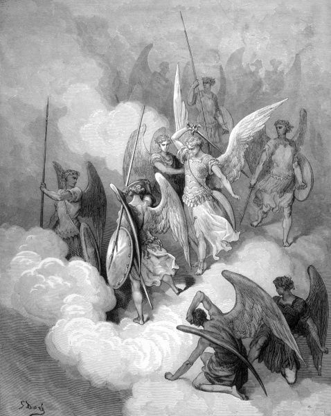 ABDIEL leads those angels which have remained faithful to God against the rebel angels led by Satan Date