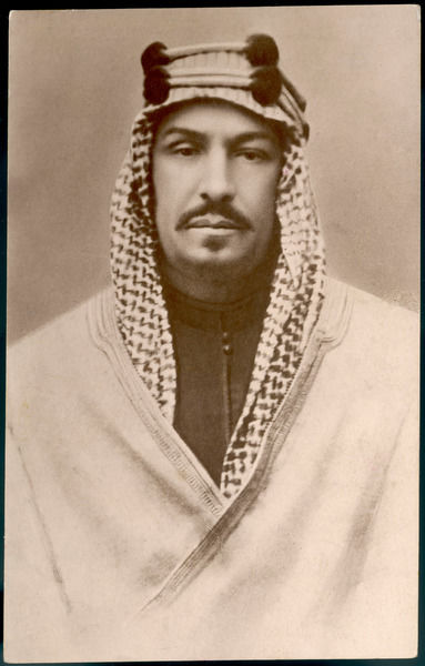 ABDUL AZIZ IBN SAUD SAUDI ARABIAN ROYALTY Photo taken in the 1930s of the self-proclaimed Sultan of Saudi Arabia, who united many kingdoms under his name