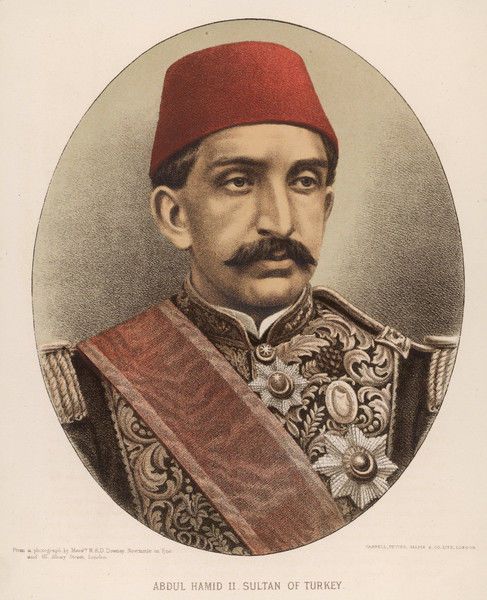 ABDUL HAMID II Ottoman Sultan (1876-1909) who went to war abroad, misgoverned at home, and was eventually deposed