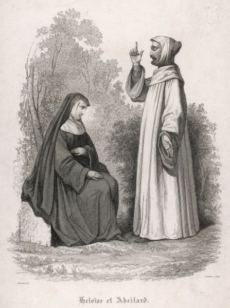 Abelard falls in love with Heloise while instructing her in theology ; she falls in love with him while being instructed ; they marry in secret, but he is castrated