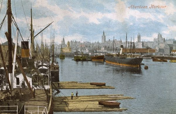 Aberdeen Harbour, Scotland Date: 1904