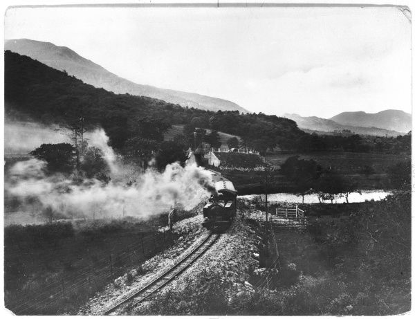 View of Welsh Higland Railway at Aberglaslyn Pass