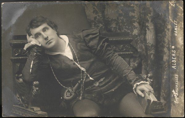 Albers, a Belgian actor, in the role of Hamlet