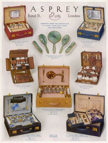 Colour advert in The Tatler for Asprey vanity cases