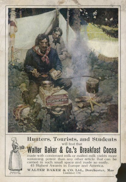 Walter Baker & Co's Breakfast Cocoa, for hunters, tourists and students