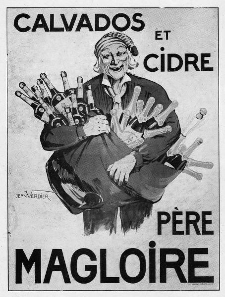 Advert for Calvados and Cider from Pere Magloire, 1931, Paris Date: 1931