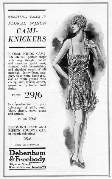 Advert for Debenham & Freebody Cami-knickers, 1929, London Date: 1929