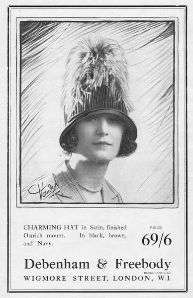 Advert for Debenham & Freebody hats, 1924 Date: 1924