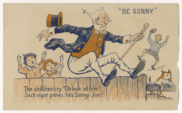 'High o'er the fence leaps Sunny Jim 'Force' is the food which raises him&#39