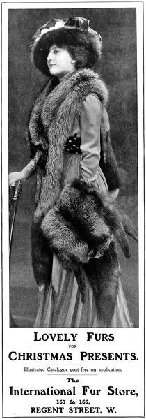 Advertisement for the International Fur Store, 1909