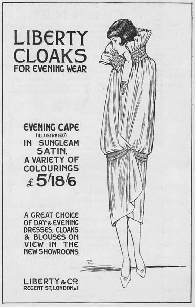 Advert for Liberty Cloaks, 1927, London Date: 1927