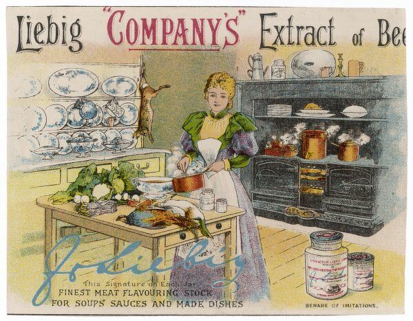 Liebig's Extract of Beef: the finest meat flavouring stock