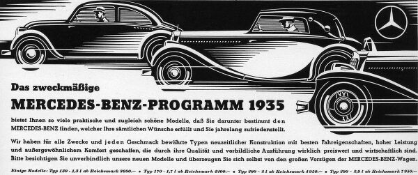 Ad for Mercedes Date: 1936