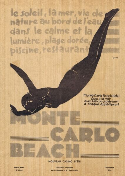 Advert for Monte Carlo Beach Hotel, 1931, France Date: 1931