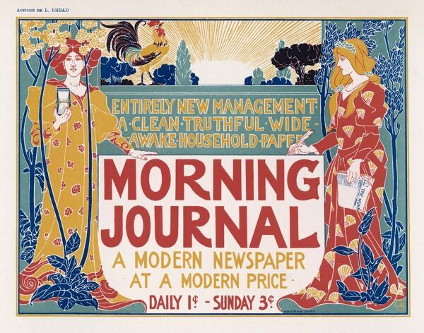 Poster for the Morning Journal, New York - a modern newspaper at a modern price