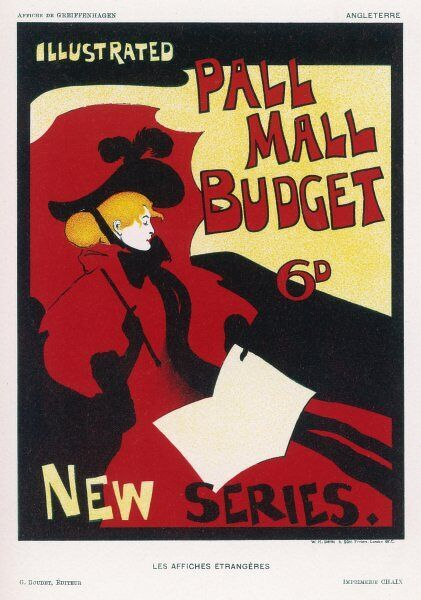 Poster for Pall Mall Budget, new series, illustrated