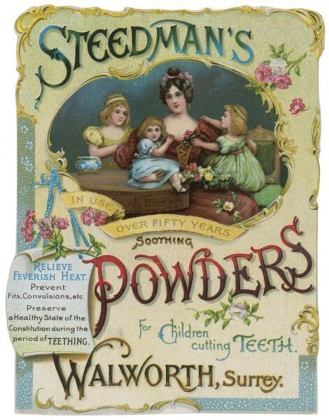 Steedman's Soothing Powders for children cutting teeth