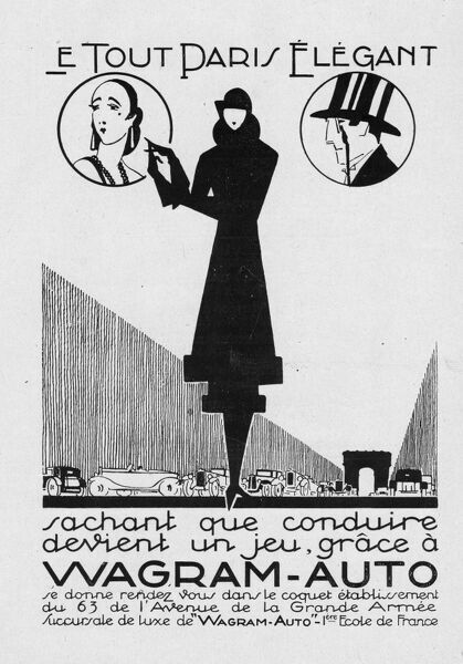Advert for Wagram-auto, 1927, Paris Date: 1927