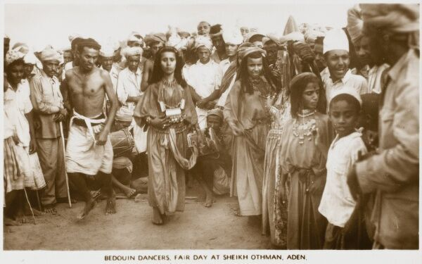 Aden - Yemen - Bedouin Dancers performing at a Fair at Sheikh Othman