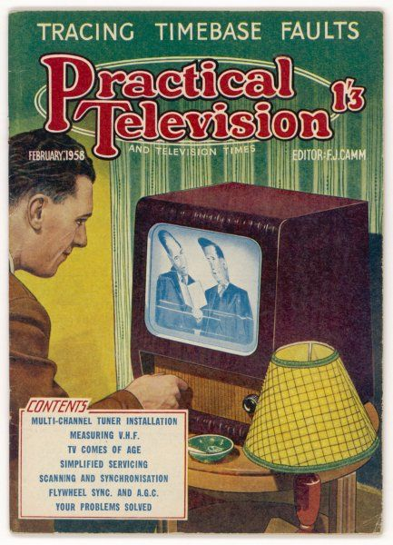 Adjusting an early television set