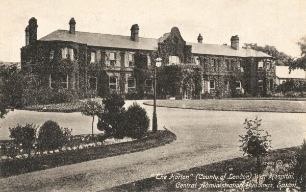 The administration block of the Horton War Hospital, Epsom, opened in 1899 as Horton Asylum - London's seventh county asylum