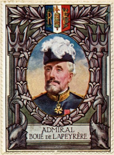 AUGUSTIN MANUEL HUBERT GASTON BOUE DE LAPEYRERE (1852 - 1924) French admiral during World War I