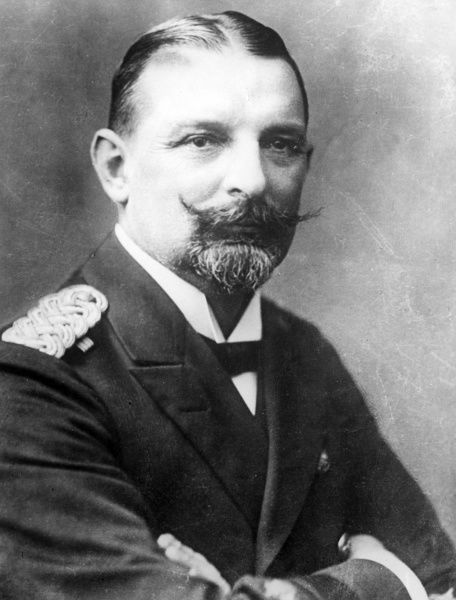 Admiral (formerly Captain) Eduard von Capelle (1855-1931), German naval officer, assistant to Admiral von Tirpitz whom he succeeded in 1916. Date: early 20th century