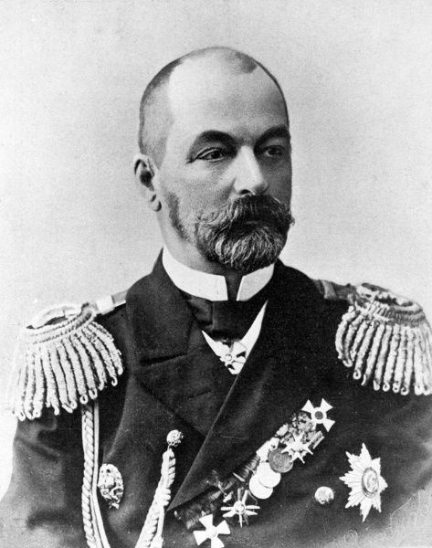 Admiral Zinovy Petrovich Rozhestvensky (1848-1909), nicknamed Mad Dog, Russian naval officer, seen here in uniform at the time of the Russo-Japanese War. Date: circa 1904-1905