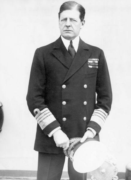 Admiral Sir David Beatty, 1st Earl Beatty (1871 - 1936), admiral in the Royal Navy. Served as First Sea Lord in the 1920s. Date