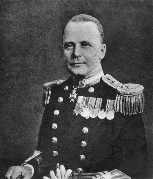 Admiral Sir Tom Phillips (1888 - 1941), who was appointed Commander-in-Chief of the Eastern Fleet on 1 December 1941