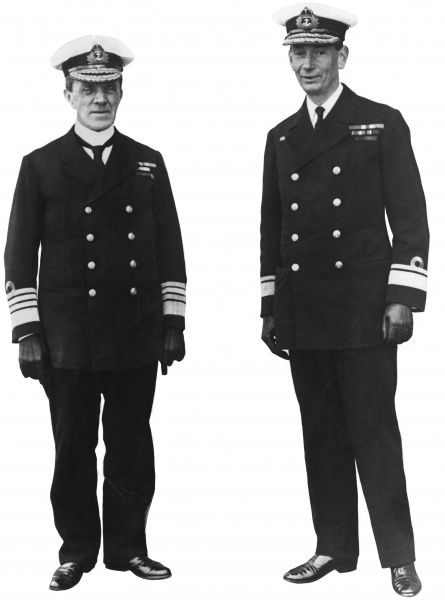 Admiral of the Fleet Sir Frederick Charles Doveton Sturdee (18591925) (keft and Rear Admiral (later Admiral of the Fleet) Roger John Brownlow Keyes (18721945). Date: circa 1916