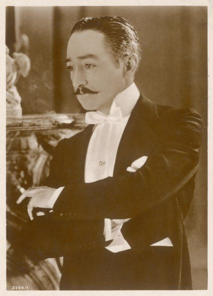ADOLPHE MENJOU American film actor, also in silent French films