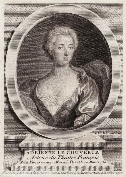 ADRIENNE LECOUVREUR talented actress of the Comedie Francaise, who died in mysterious circumstances, perhaps poisoned by a rival