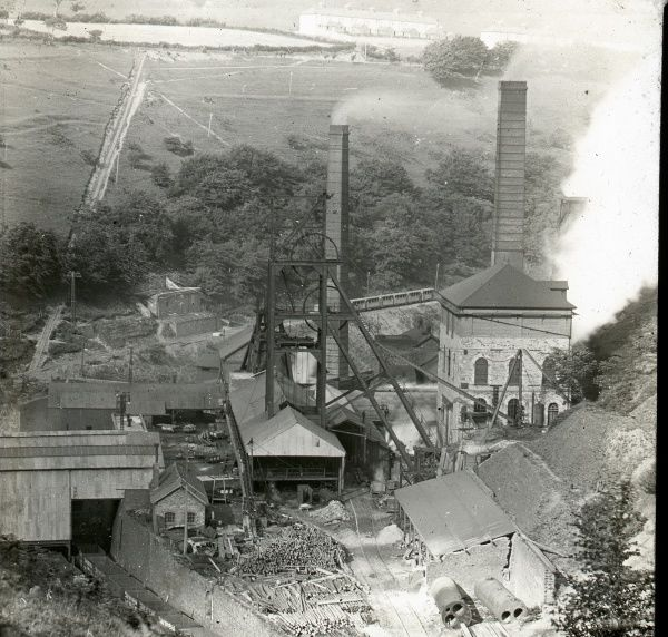 Aerial view of Tirpentwys Colliery near Pontypool in South Wales