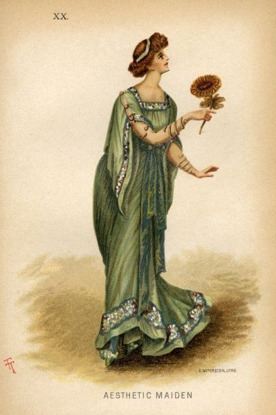 A fancy dress costume idea from 1884 - an aesthetic maiden
