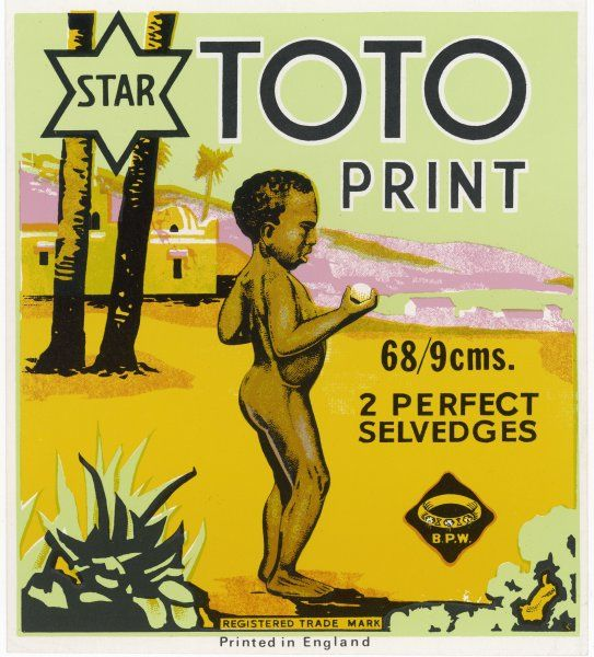 A small African boy - whose name is evidently Toto - is featured on this label for a domestic product
