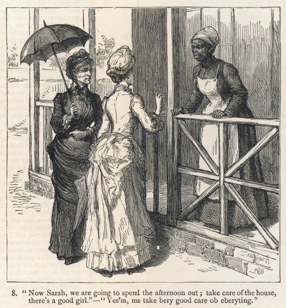 An Englishwoman in Cape Colony, South Africa, finds that the servant problem is even more acute here than home in England ! 8 of 15 Date: 1885