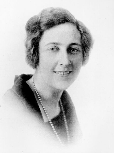 Photographic portrait of Agatha Christie (1890-1976), the English novelist and playwright, pictured in 1923
