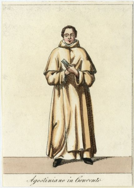 AGOSTINIANO - monk of St Augustine, in his outdoor habit