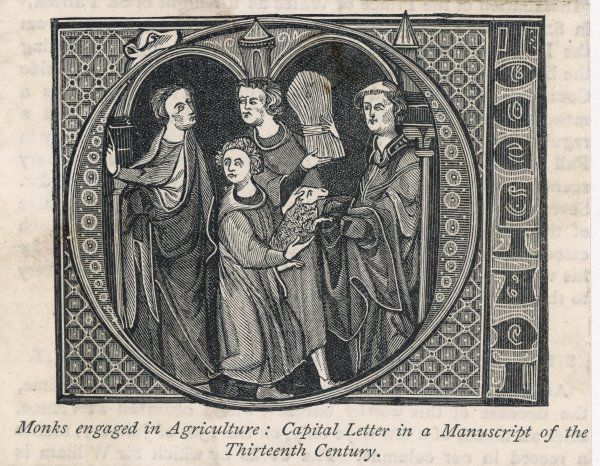 French monks engaged in agriculture