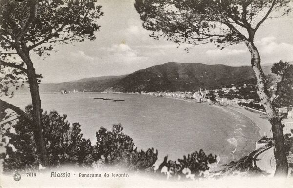 Alassio in the province of Savona situated in the North West of Italy Date: 1906