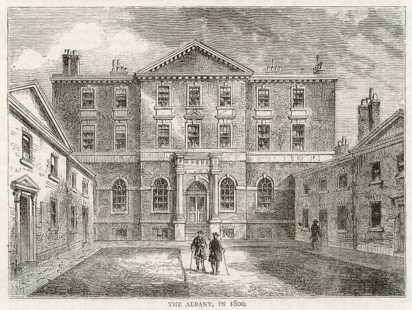 The former Albany House was converted into chambers for bachelors in 1802, and became a favoured home for notables from Byron to Beecham, Aldous Huxley to Terence Rattigan
