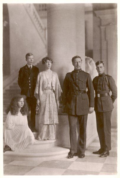 ALBERT I King of Belgium (1909-34) with his wife Elisabeth of Bavaria, and their children Leopold (b 1901), Charles (b 1903) and Marie-Jose (b 1906)