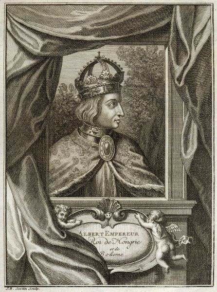 ALbrecht II, Holy Roman Emperor, also Albrecht I, king of Hungary, also Albrecht V, Duke of Austria