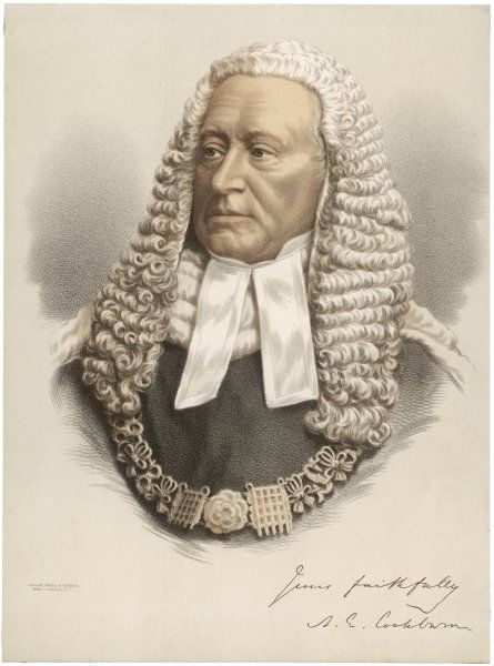 SIR ALEXANDER COCKBURN 10th Baronet British jurist who became Lord Chief Justice of Enland in 1859